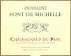 Domaine Font de Michelle Châteauneuf-du-Pape  - label