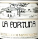 La Fortuna Brunello di Montalcino  - label