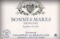 Domaine Fougeray de Beauclair Bonnes-Mares Grand Cru  - label