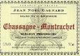 Domaine Jean-Noël Gagnard Chassagne-Montrachet Premier Cru Morgeot Rouge - label