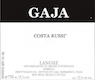 Gaja Barbaresco Costa Russi - label