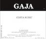Gaja Langhe Nebbiolo Costa Russi - label