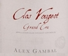 Alex Gambal Clos de Vougeot Grand Cru  - label