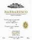 Azienda Agricola Falletto (Bruno Giacosa) Barbaresco Rabajà - label