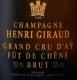 Henri Giraud Fût de Chêne - label