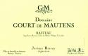 Domaine Gourt de Mautens Rasteau  - label