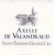 Château Valandraud Axelle de Valandraud - label