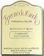 Greenock Creek Cabernet Sauvignon - label