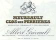 Domaine Albert Grivault Meursault Premier Cru Clos des Perrières - label