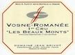 Domaine Jean Grivot Vosne-Romanée Premier Cru Les Beaux Monts - label