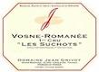 Domaine Jean Grivot Vosne-Romanée Premier Cru Les Suchots - label