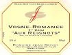 Domaine Jean Grivot Vosne-Romanée Premier Cru Aux Reignots - label