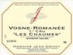 Domaine Jean Grivot Vosne-Romanée Premier Cru Les Chaumes - label
