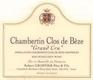 Domaine Robert Groffier Père et Fils Chambertin Clos de Bèze Grand Cru  - label