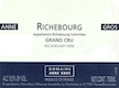 Domaine Anne Gros Richebourg Grand Cru  - label