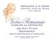 Domaine A.-F. Gros Vosne-Romanée Clos de la Fontaine - label