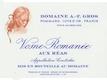 Domaine A.-F. Gros Vosne-Romanée Premier Cru Aux Réas - label