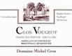Domaine Michel Gros Clos de Vougeot Grand Cru  - label