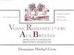 Domaine Michel Gros Vosne-Romanée Premier Cru Aux Brûlées - label