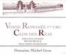 Domaine Michel Gros Vosne-Romanée Premier Cru Clos des Réas Monopole - label