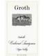 Groth Cabernet Sauvignon - label
