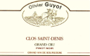 Domaine Olivier Guyot Clos Saint-Denis Grand Cru  - label
