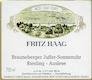 Fritz Haag Brauneberger Juffer Sonnenuhr Riesling Nr.12 Auslese Goldkapsel - label