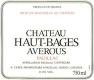 Château Haut-Bages Averous  - label