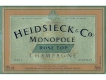 Heidsieck & Co Monopole Rosé Top - label