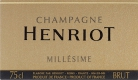 Henriot Brut Millésimé - label