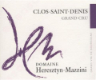 Domaine Heresztyn-Mazzini Clos Saint-Denis Grand Cru  - label