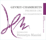 Domaine Heresztyn-Mazzini Gevrey-Chambertin Premier Cru Les Champonnets - label