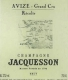 Jacquesson Avize Grand Cru - label