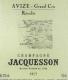 Jacquesson Avize Grand Cru - label