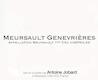 Domaine Antoine Jobard Meursault Premier Cru Genevrières - label