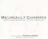 Domaine Antoine Jobard Meursault Premier Cru Charmes - label