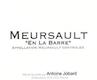 Domaine Antoine Jobard Meursault En la Barre - label