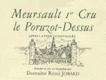Domaine Rémi Jobard Meursault Premier Cru Le Poruzot-Dessus - label