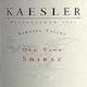 Kaesler Old Vine Shiraz - label
