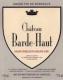Château Barde-Haut  Grand Cru Classé - label