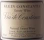 Klein Constantia Vin de Constance - label