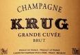 Krug Brut Grande Cuvée - label