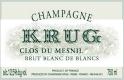Krug Clos du Mesnil - label