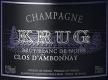 Krug Clos d'Ambonnay - label