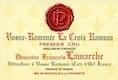 Domaine François Lamarche Vosne-Romanée Premier Cru La Croix Rameau - label