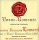 Domaine François Lamarche Vosne-Romanée  - label