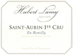 Domaine Hubert Lamy Saint-Aubin Premier Cru En Remilly - label