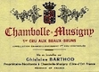 Domaine Ghislaine Barthod Chambolle-Musigny Premier Cru Aux Beaux Bruns - label