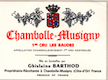 Domaine Ghislaine Barthod Chambolle-Musigny Premier Cru Les Baudes - label