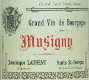 Dominique Laurent Musigny Grand Cru  - label